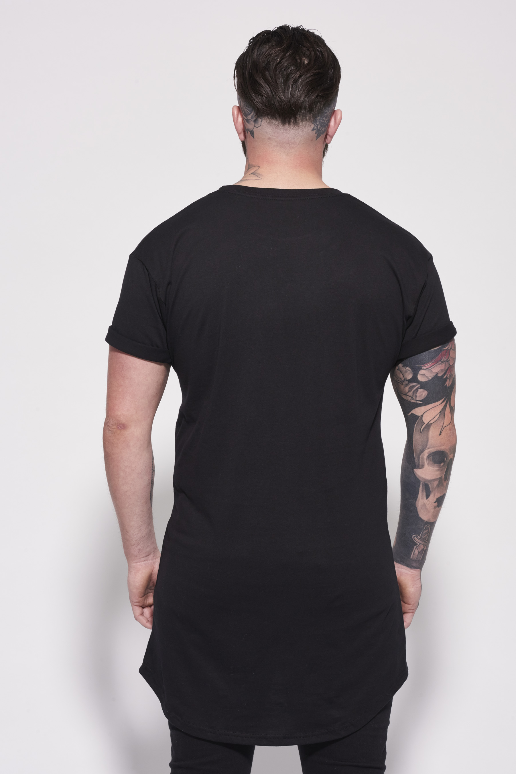 Essentials Longline T-Shirt Black | Lifesinked