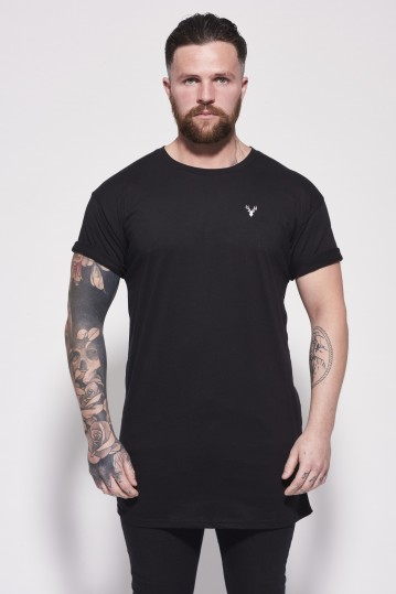 Essential Longline Black Front