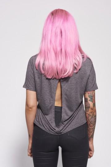 Womens Open Back Grey Back